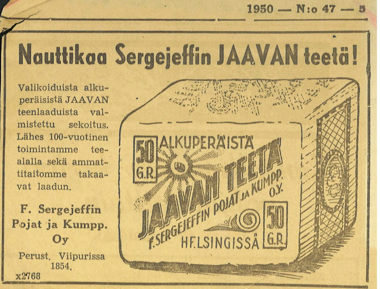 Sergejeffin Jaavan teetä
